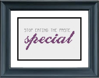Special: Stop Eating the Paste! - Gilmore Girls - PDF Cross-Stitch Pattern