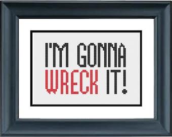 I'm Gonna Wreck It - Wreck It Ralph Cross Stitch Pattern - Disney - PDF Cross-Stitch Pattern
