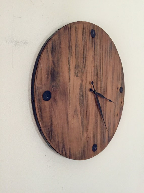 sale reclaimed wood clock handmade 23 large