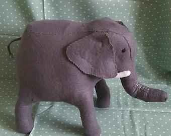 Large Felt Elephant