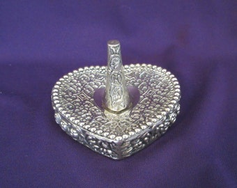 Vintage Silverplate Ring Holder Dish