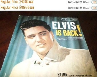 Save 30% Today Vintage 1960 Vinyl LP Record Elvis is Back! RCA Victor LPM-2231 Very Good Condition Variation Label