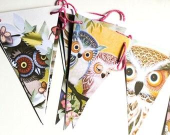 Owl Bunting garland