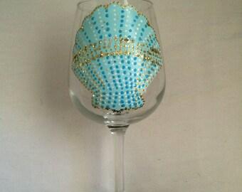 Sea shell wine glass