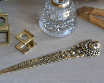Brass Letter Opener Pierrot Clown - 1920's