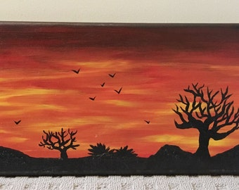 Original Sunset Painting