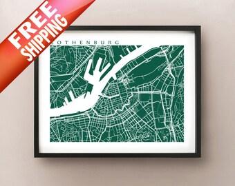 Gothenburg Map - Sweden Poster - Göteborg, Sverige