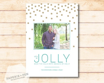 Let's be Jolly // Christmas Photo Card