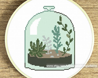 Succulent cross stitch pattern, Modern cross stitch, Floral cross stitch, Succulent cross stitch, Cacti, Cross stitch floral, Xstitch