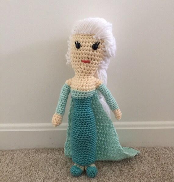 Crochet Frozen Doll : Elsa Doll Crochet Frozen Doll Girls Kids Toy Dolls Anna