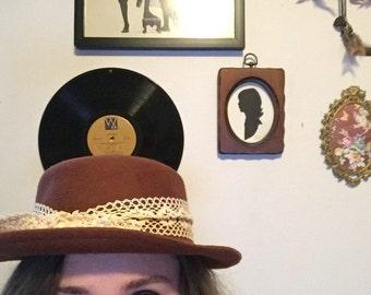 Dark Mauve Bowler Hat