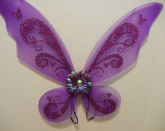 Purple Butterfly/Pixie wings for toddlers through adult! Use for Costumes, parties, holidays, photos and more!