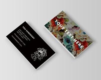 Floral Flourish Custom Business Card Template