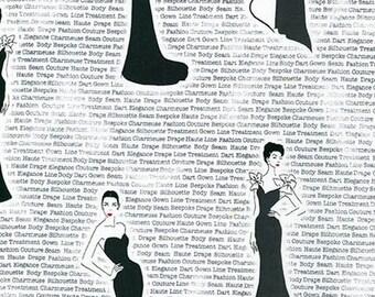 City Chic Black Dress - 1/2yd
