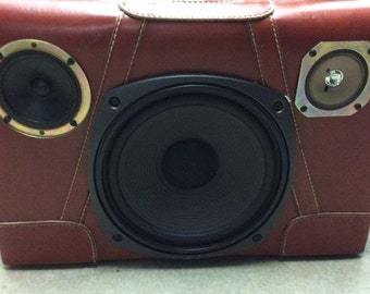 Vintage Portable Suitcase Boombox - Great Sound