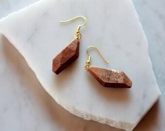 Bohemian Jewelry | Boho | Wood Jewelry | Wood Earrings | Simone Earrings | Monkey Pod