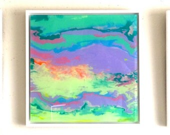 Abstract, Original oil Painting, Plexiglass, wall art decor, Framed, Handmade Contemporary art, One of a kind, Ready to Hang