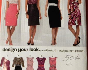 Simplicity New Look 6912 Design your own dress with mix and match pattern pieces Uncut Sizes 4, 6, 8, 10, 12, 14 and 16