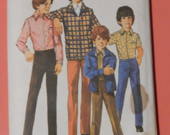 Simplicity 9595 Vintage boys' jacket, shirt and pants pattern Unused Size 4