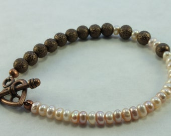 Pearly Brass - Bracelet
