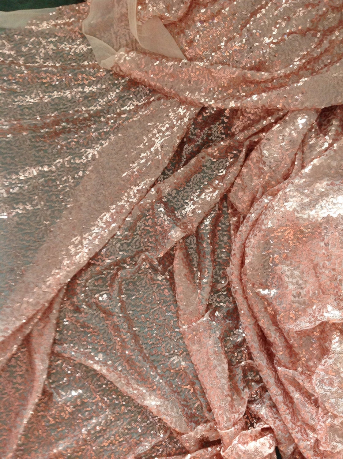 2yards rose gold sequin fabricsequin dress fabricsparkle for Sparkly material