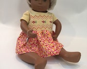 Baby doll embroidered dress and capris