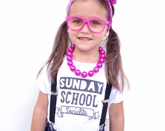 Sunday School Socialite toddler/youth tees