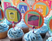 Dr. Seuss Theme Cupcake Toppers