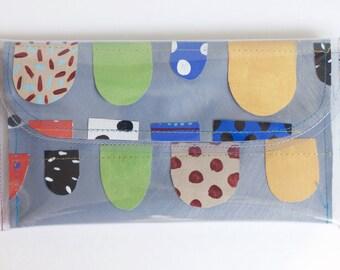 Polly Wristlet Wallet | Painted Canvas. Wedding Accessory. Vegan Purse. Wearable Art. Statement Accessory. Bridesmaid Clutch. Original Bag