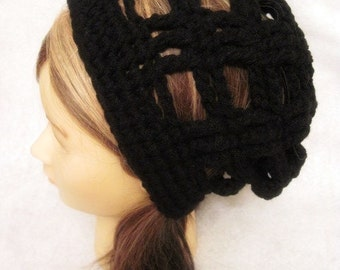 Black Slouchy Hat, Black Slouch Hat, crochet slouch hat, summer hat, beach hat, slouch hat, slouchy hat, adult, womens, gift, lightweight