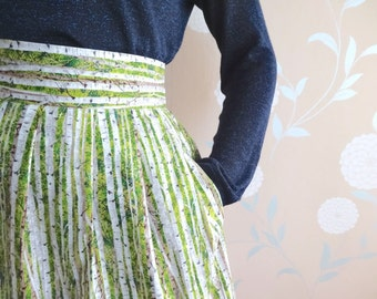 World map skirt in cotton blue world map fabric atlas skirt tree skirt with pockets silver birch pattern skirt with pockets pleated unique skirt gumiabroncs Images