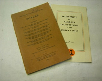 Vintage railroad pamphlets-Railroad in the U.S-edition 1945-Scales 1957 edition-collection-