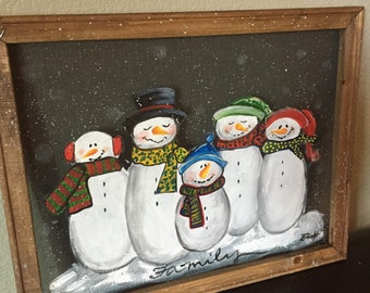 Snowman family , customize this for you