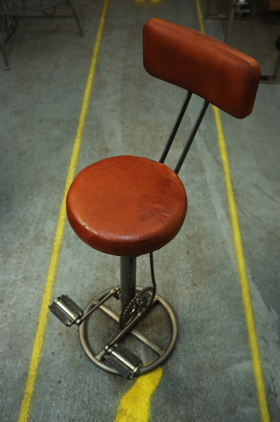 Leather Biker Bar Stool