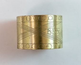 Art Deco NuGold Brass Cuff