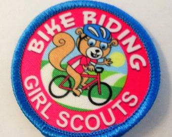 """Girl Scout Fun Patch """"Bike Riding"""""""