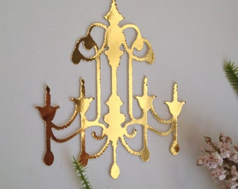 Gold Foil Chandelier Embellishment