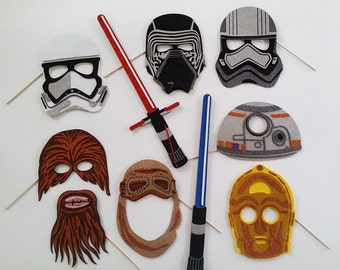 Galaxy movie VII masks  Photo Booth Props Stormtroopers, Kylo Ren, Chewbacca