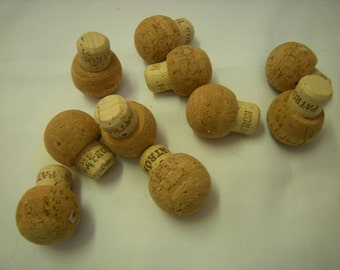 10 corks-tequila Patron corks-art-crafts-upcycle-supplies-bottle stoppers-