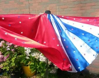 star and stripe cape for superhero wonder woman