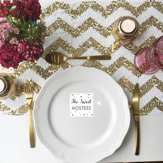 sparkly gold chevron sequin table runner. Black Bedroom Furniture Sets. Home Design Ideas