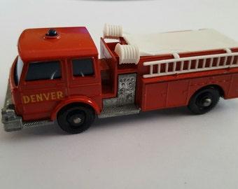 Vintage Matchbox Series No 29 c1 Fire Pumper truck, Denver Fire Department  Made in England by Lesney