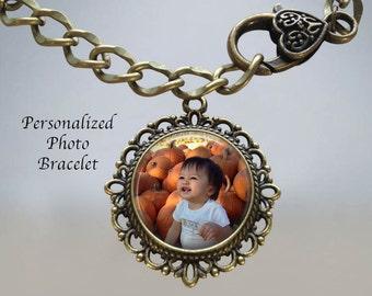 Custom Photo Charm Bracelet - Custom Picture Bracelet - Personalized Photo Bracelet - Photograph Bracelet - Photo Charm Bracelet