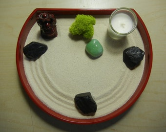 J02 - Japanese Zen Garden with Happy Buddha and Candle - DIY Kit