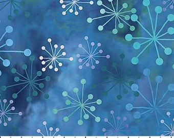 Cosmic Fusion~Blue~Cotton Fabric, Quilt,~Northcott~Fast Shipping,N356