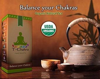 Detox Body Cleanse ; Organic Herbal Chakra Tea (T-Chakra), Ayurvedic Medicine.