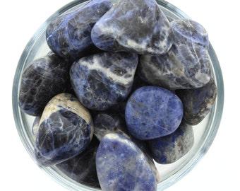 Sodalite Blue Light Tumble Stone Larger (3 Pack)