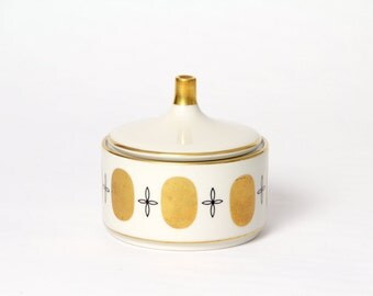 Royal Porzellan Bavaria KM Germany porcelain container 22 karat Gold