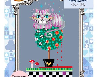 Brooke's Books Wonderland Cheshire Cat Cross Stitch Chart-Only (Hard Copy)