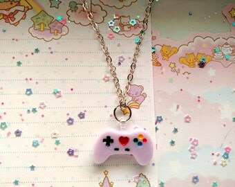 Pastel Lavender Game Controller Necklace